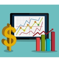 Stock market with statistics vector image vector image