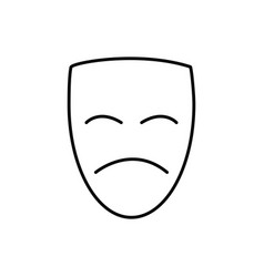 theater face icon vector image