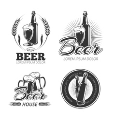 Vintage beer emblems labels badges logos vector image vector image
