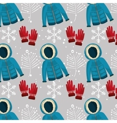 Winter fashion wear and accesories vector