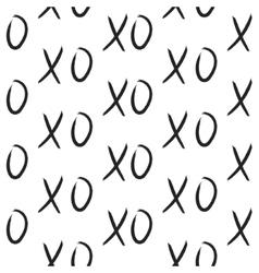 XOXO hugs and kisses seamless pattern vector image