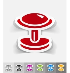 Realistic design element cufflink vector