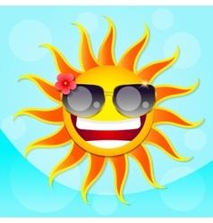 Fun sun summer vector image