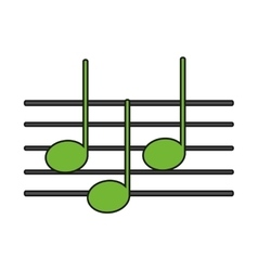 Isolated music note design vector