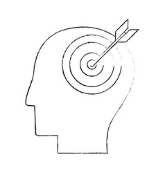 Head human target creativity sketch vector