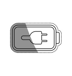 eletric battery rechargeable vector image