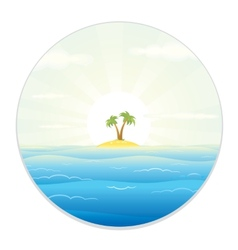 View of the tropic island from the field glass vector