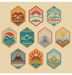 Mount badge set1color vector image