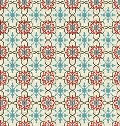 Floral background vintage style seamless pattern vector