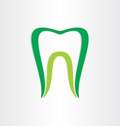 Healthy teeth concept dentist tooth symbol vector