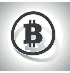 Bitcoin sign sticker curved vector