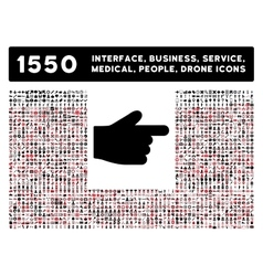 Index finger icon and more interface business vector