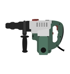 Big electric hammer drill clip art vector