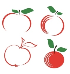 Seyt of apple icons vector