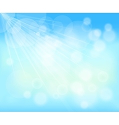 Blurred background of blue sky vector