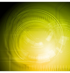 Yellow technology backdrop vector