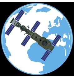 Soviet orbital station salute vector