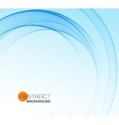 Abstract background blue wavy vector