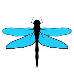 Abstract design dragonfly vector image