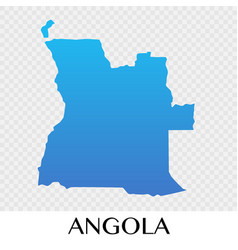 Angola map in africa continent design vector