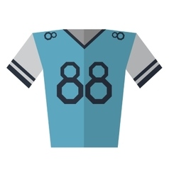 Blue jersey player american football vector