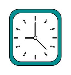 Clock flat vector