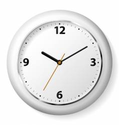 clock on a wall vector image vector image
