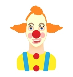 Clown icon cartoon style vector