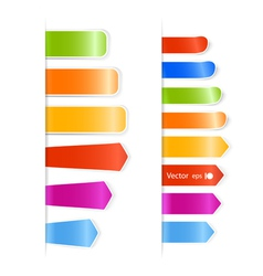 Different color stickers vector image