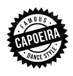 Famous dance style Capoeira stamp vector image vector image