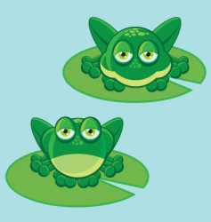 frog on leaf vector image vector image