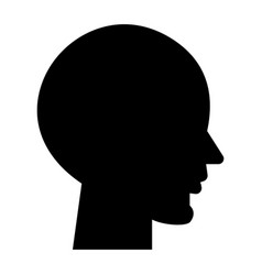 head empty icon black sign vector image vector image