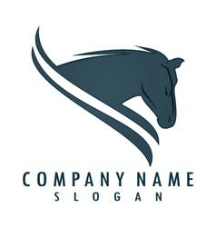 horse logo 6 vector image
