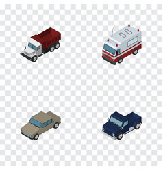 Isometric transport set of auto freight first vector