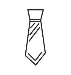 male tie line icon sign on vector image vector image