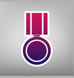 Medal sign purple gradient vector