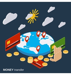 Money transfer financial transaction concept vector image vector image