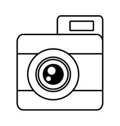photo camera picture vacation travel line vector image