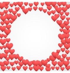 Romantic hearts decor vector