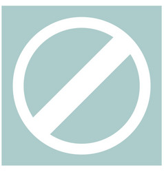 Sign entry prohibited the white color icon vector