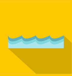 water icon flat style vector image