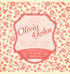 Wedding invitation card invitation vector