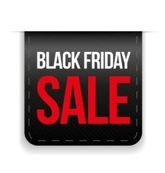 Black friday sale ribbon vector