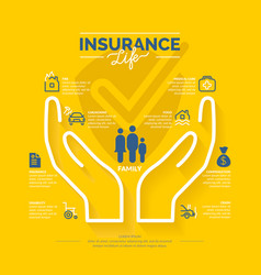 Life insurance icons vector
