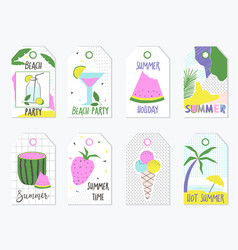 Set of summer gift tags and labels vector