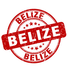 Belize red grunge round vintage rubber stamp vector