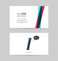 Business card template - letter i vector