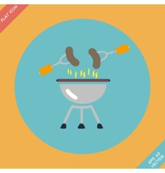 Barbecue grill menu icon - vector