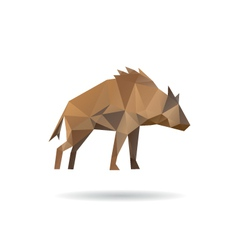 Hyena abstract isolated vector