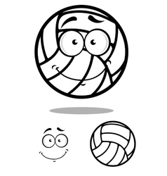 Shy volleyball ball character design elements vector